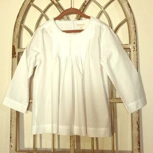 NWT Crewcuts White Long Sleeve Blouse- Size 12